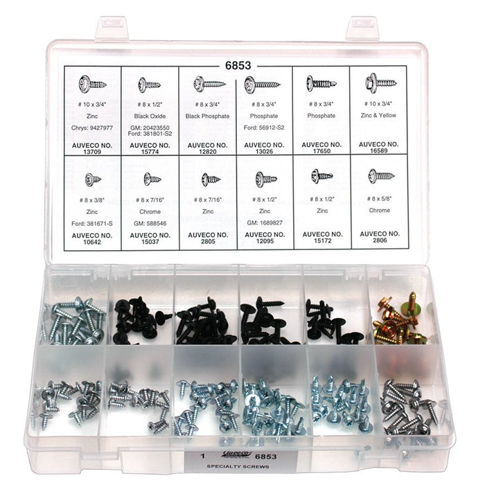 Auveco No. 6853 U.S. Specialty Screw Quik-Select Kit, Quantity - 1 KIT