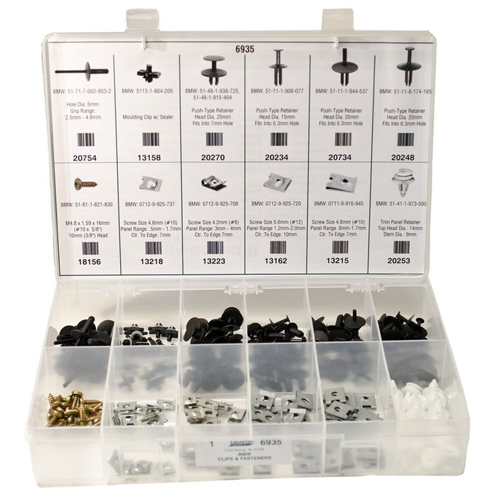 Auveco No. 6935 BMW Clips And Fasteners Kit, Quantity - 1 KIT