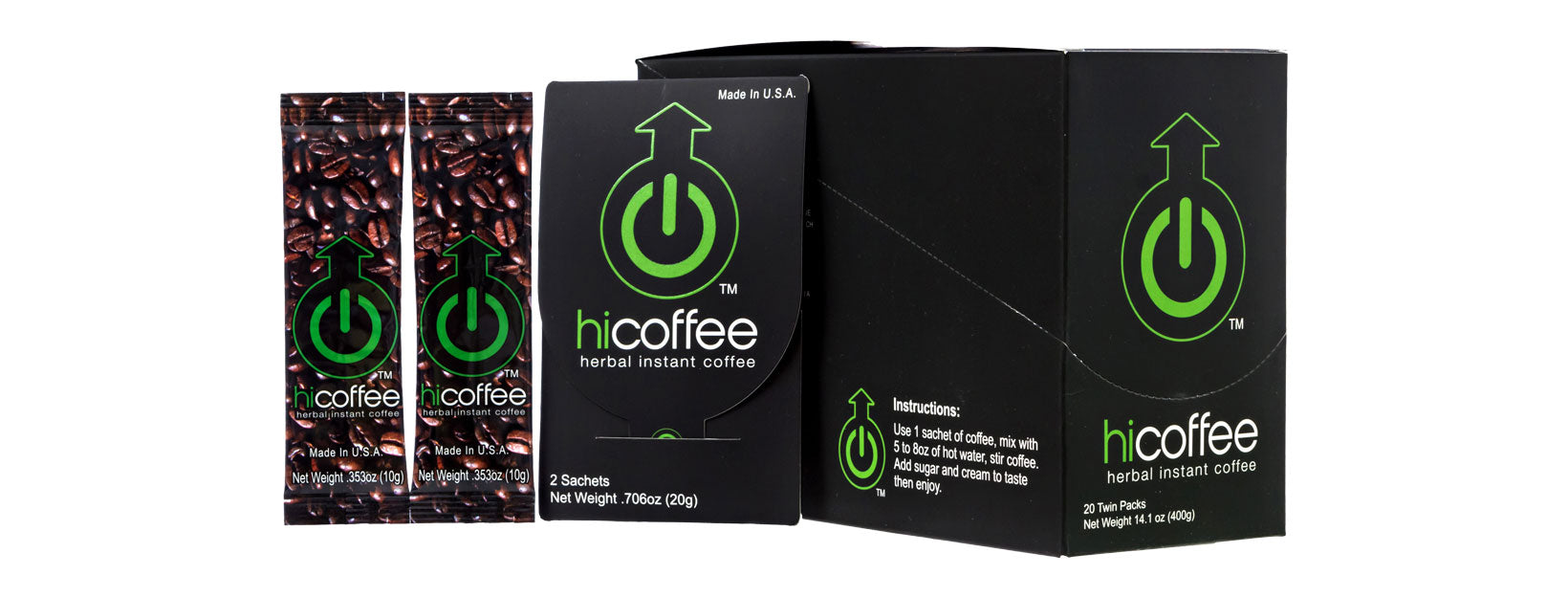 Hi Coffee Box (40 Sachets - 20 Packs)