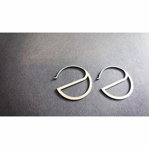 Half Moon - Earrings made of stainless steel