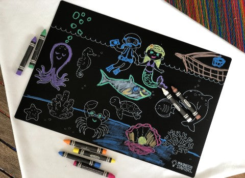 Sea Creatures Chalkboard Placemat