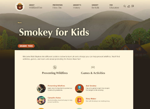 Forest Activities for Kids - Smokey Bear