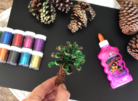 Forest Ideas for Kids: Glitter Pine Cones
