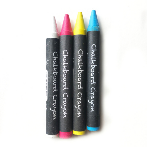 NEW!  Chalkboard Crayons 4 pack