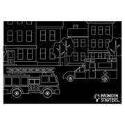 "Chalkboard Placemat Action Set of 4 12""x17"""