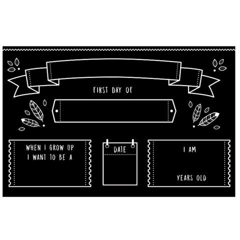 "Reversible Back to School Chalkboard Placemat 12""x17"""