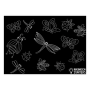 "Reversible Bugs Chalkboard Placemat 12""x17"""