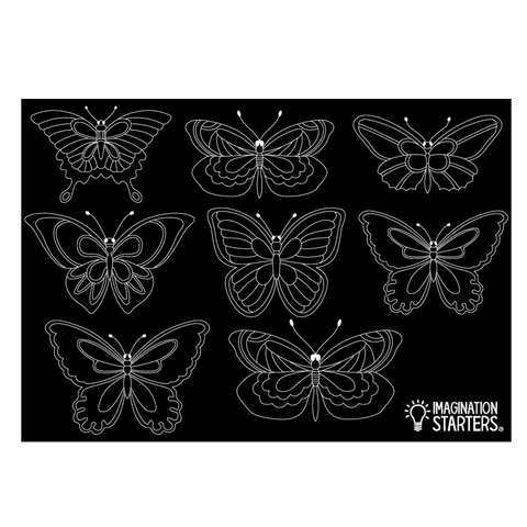 "Reversible Butterfly Chalkboard Placemat 12""x17"""