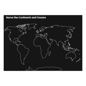 NEW Chalkboard 12x17 Continents & Oceans