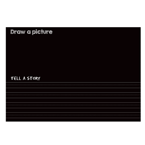 "Reversible Draw and Write and Black Chalkboard Placemat 12""x17"""