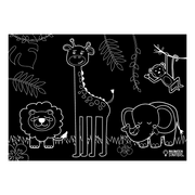"Reversible Jungle Animals Chalkboard Placemat 12""x17"""