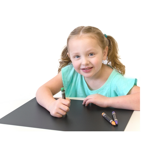 "Reusable Washable 12"" x 17"" No dust Chalkboard Placemats- Draw, Color, Doodle - Set of 4"