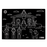 "Chalkboard Placemat Holiday Set of 4 12""x17"""