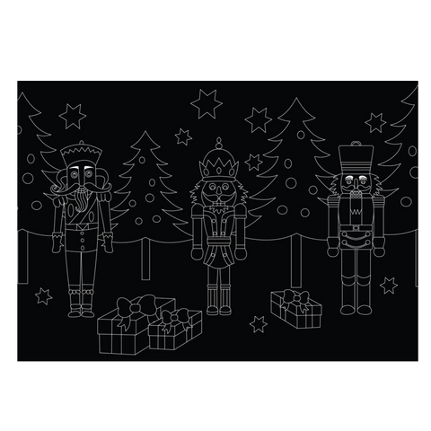 "Reversible Nutcracker Chalkboard Placemat 12""x17"""