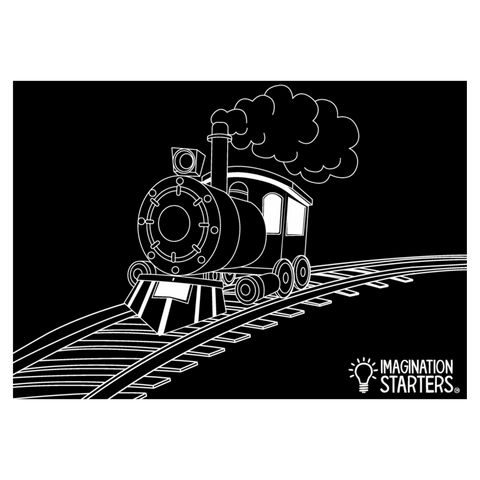 Reversible Train Chalkboard Placemat
