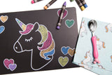 Unicorn Magic Travel Size Chalkboard Mats Set of 4
