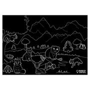 "Chalkboard Placemat Animals Set of 4 12""x17"""