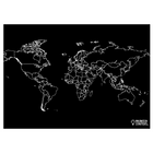 """Reversible World Map and Blank Chalkboard Placemat 12""""x17"""""""