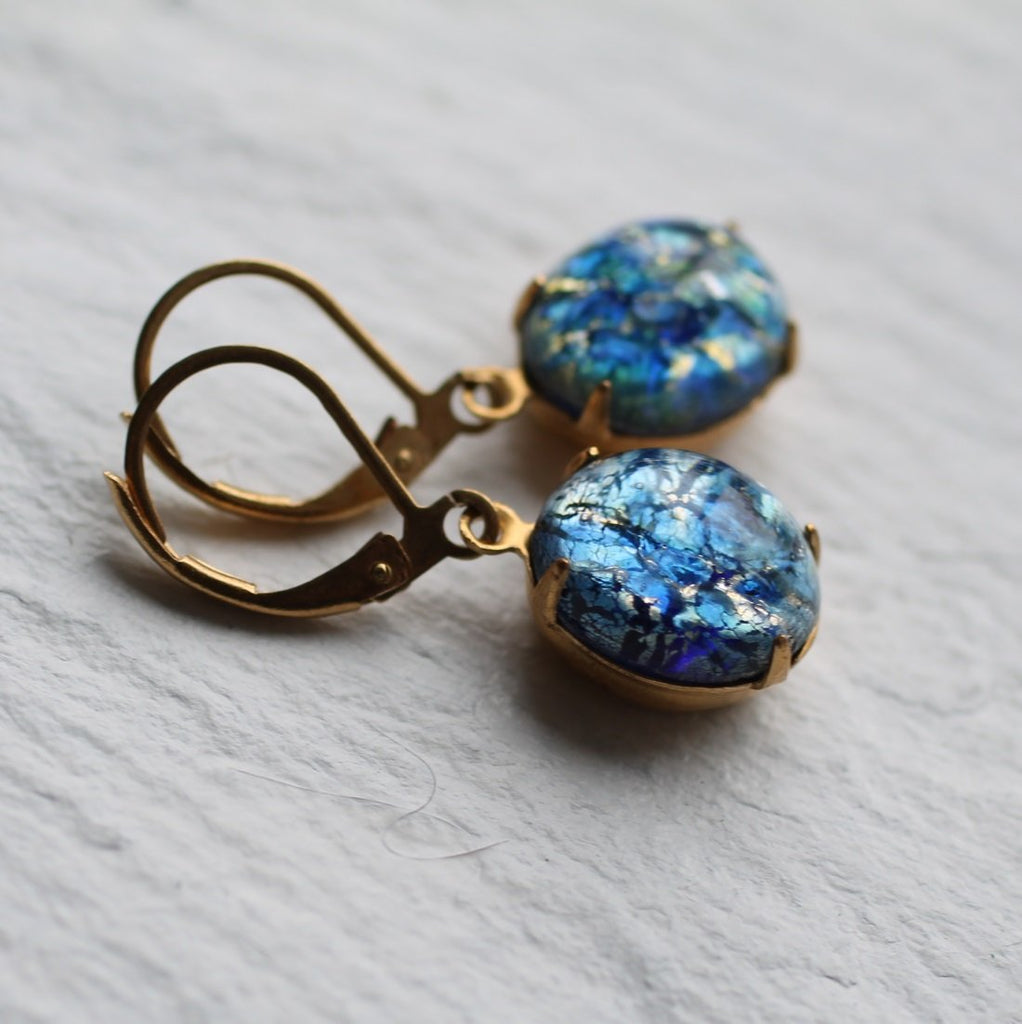 Peacock Sapphire Earrings - Earrings