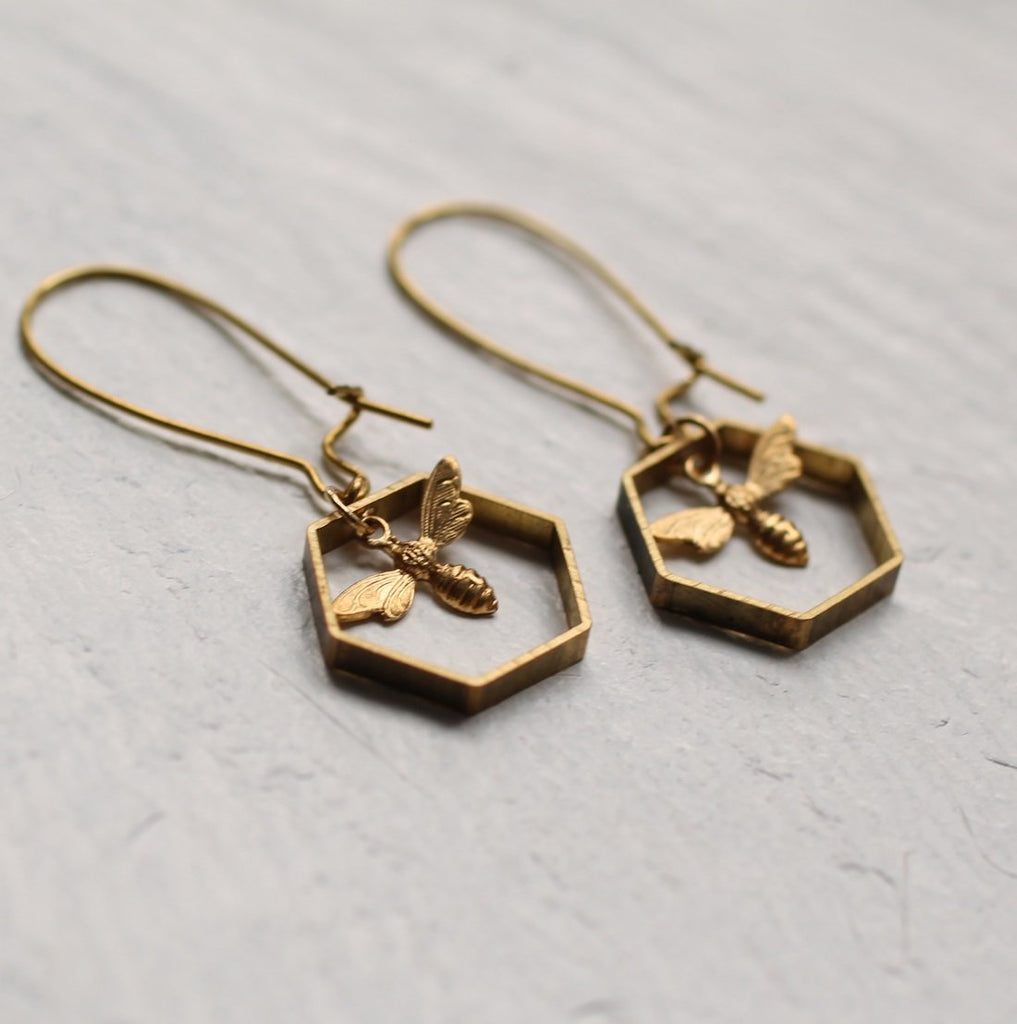 Long Bee Earrings