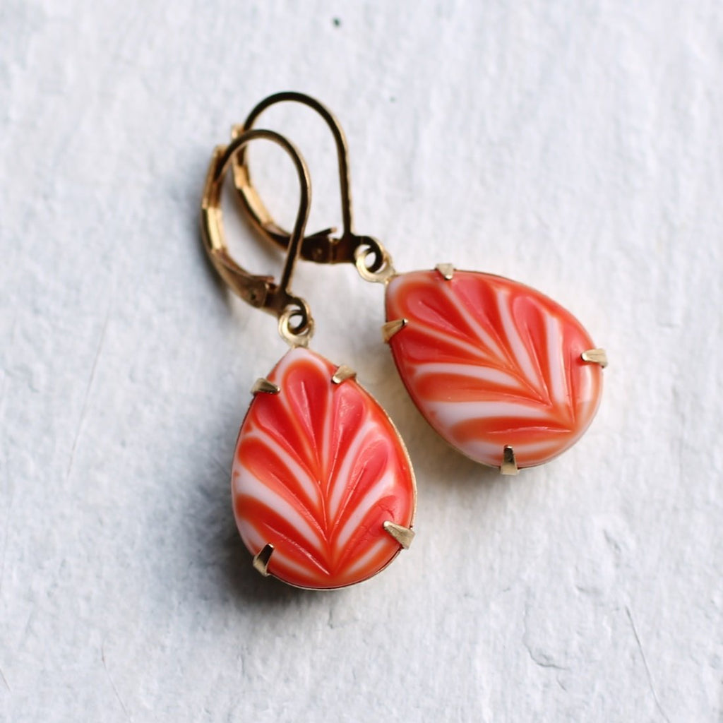 Strawberry Ripple Earrings - Earrings