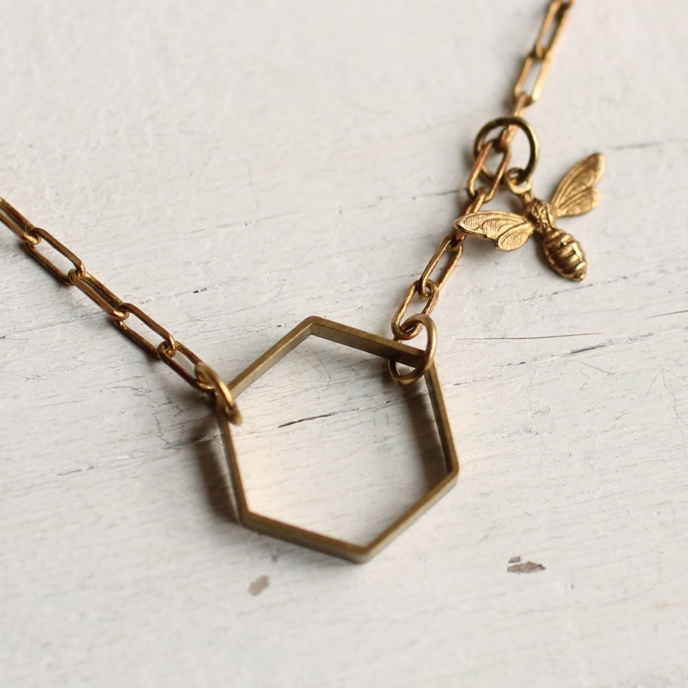 Bee Hive Necklace - Necklaces