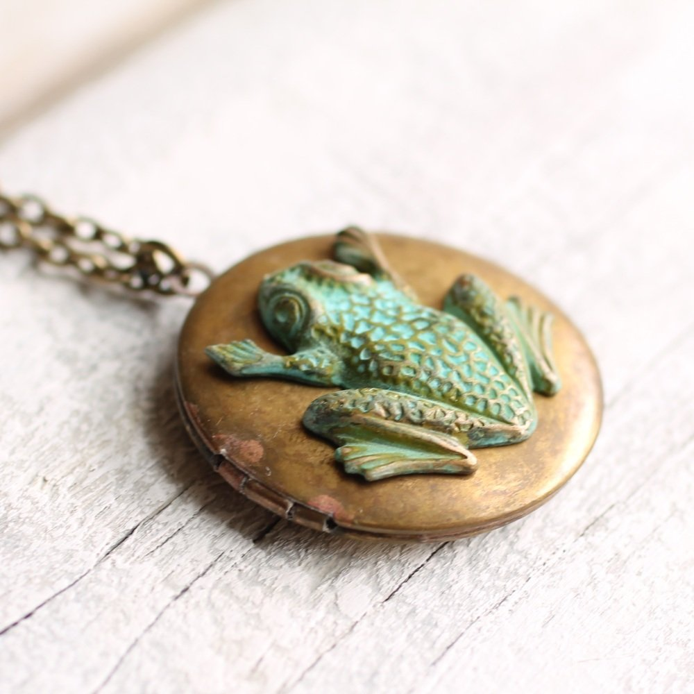 Frog Locket - Necklaces
