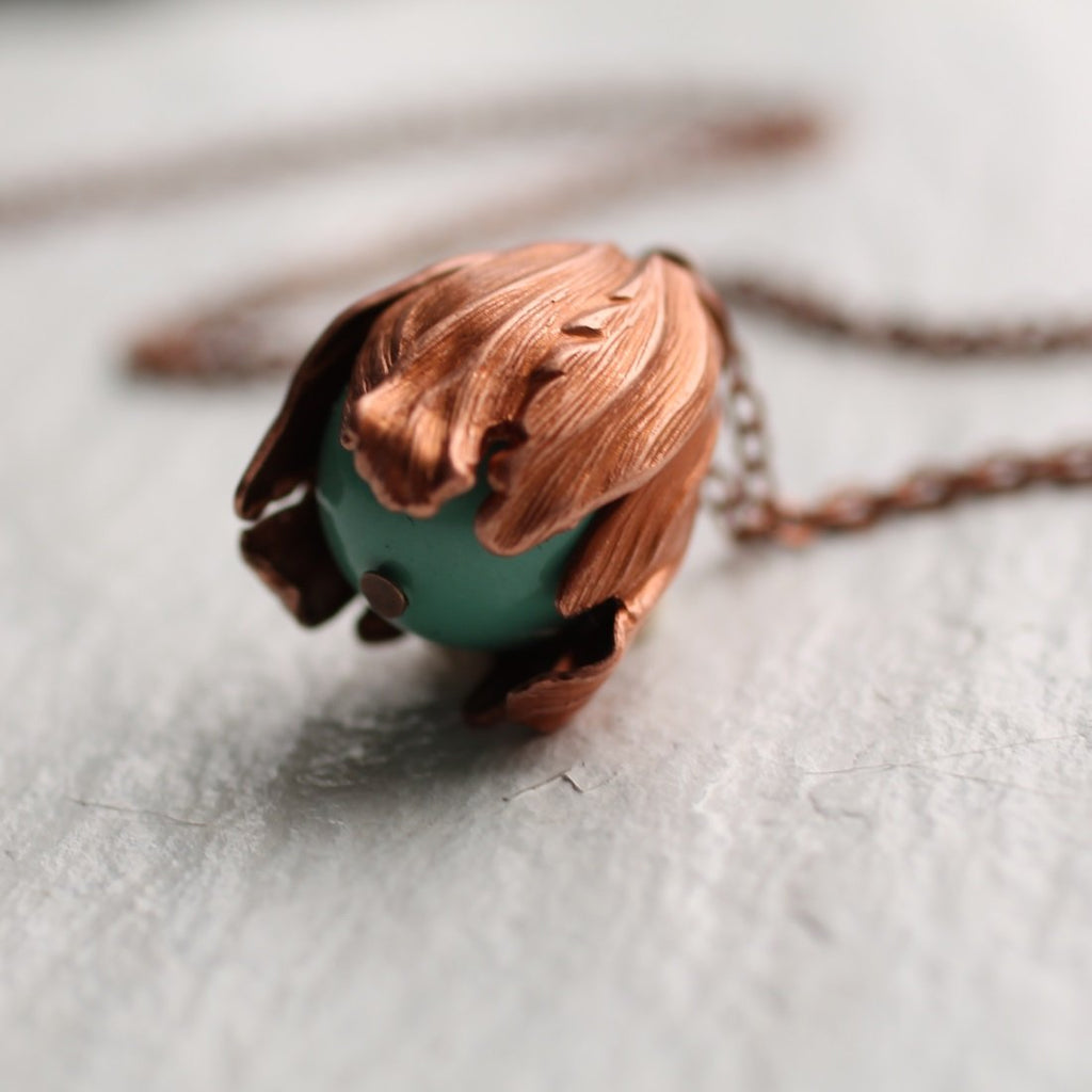 Flower Bud Necklace - Necklaces