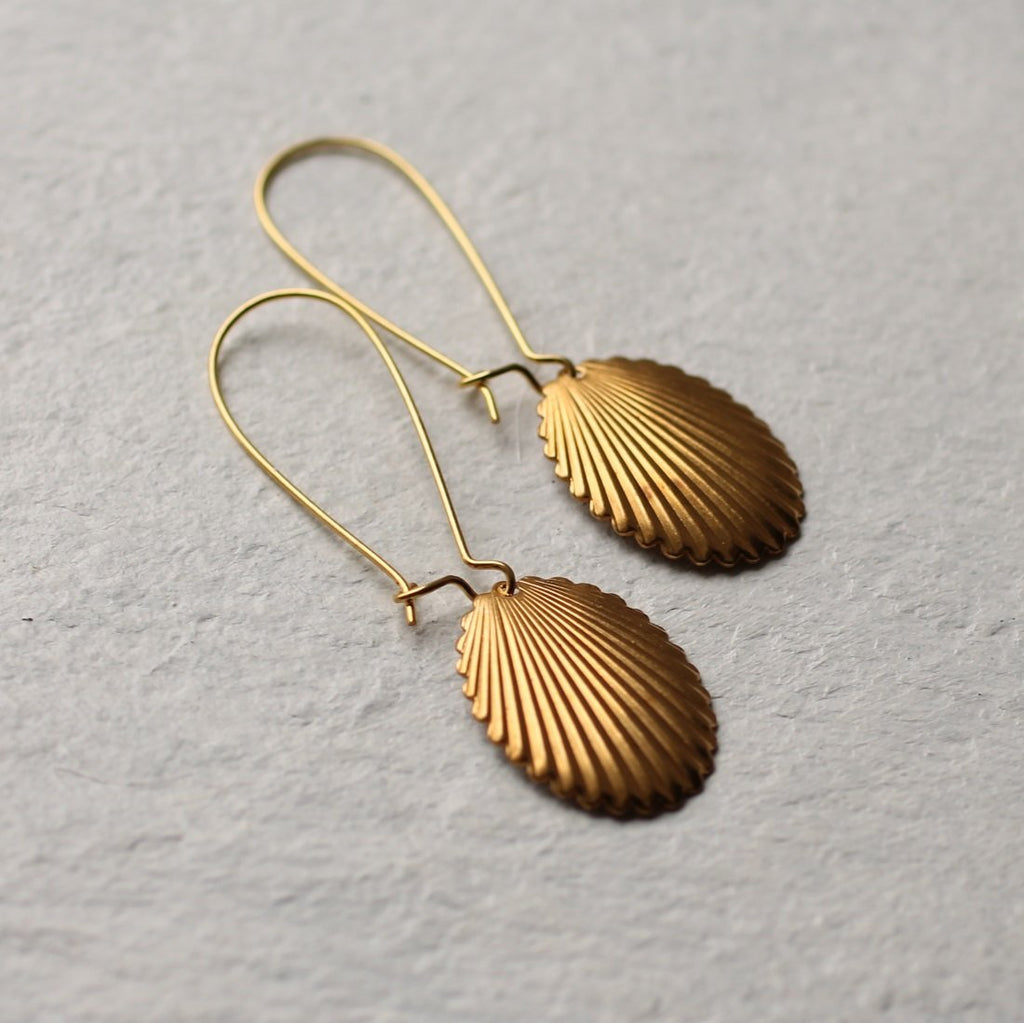 Scallop Shell Earrings - Earrings