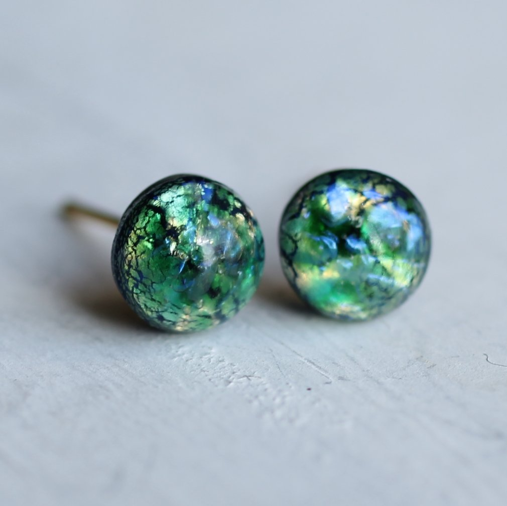 Green Planet Earrings - Earrings