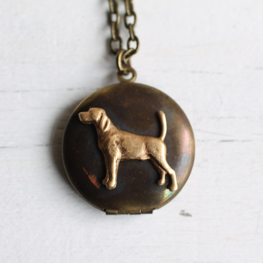 Labrador Dog Locket - Necklaces