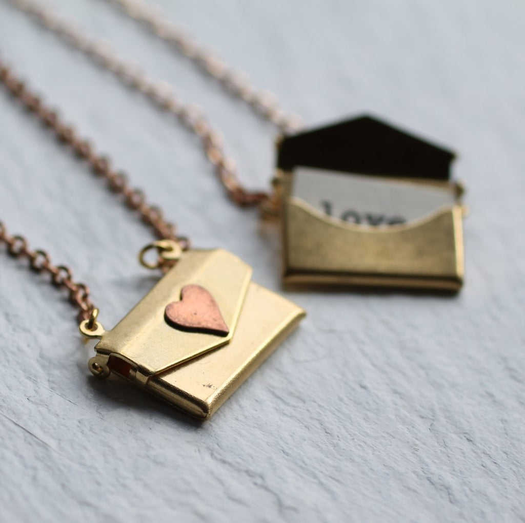 Envelope Locket - Necklaces