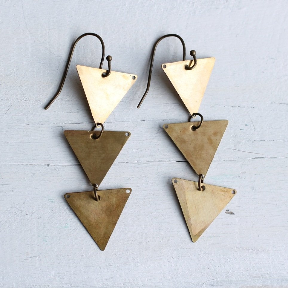 Triangle Arrow Earrings - Earrings