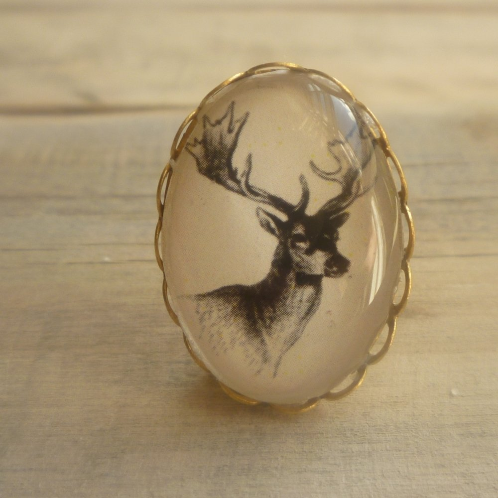 Miniature Stag Head Brooch - Brooches & Pins