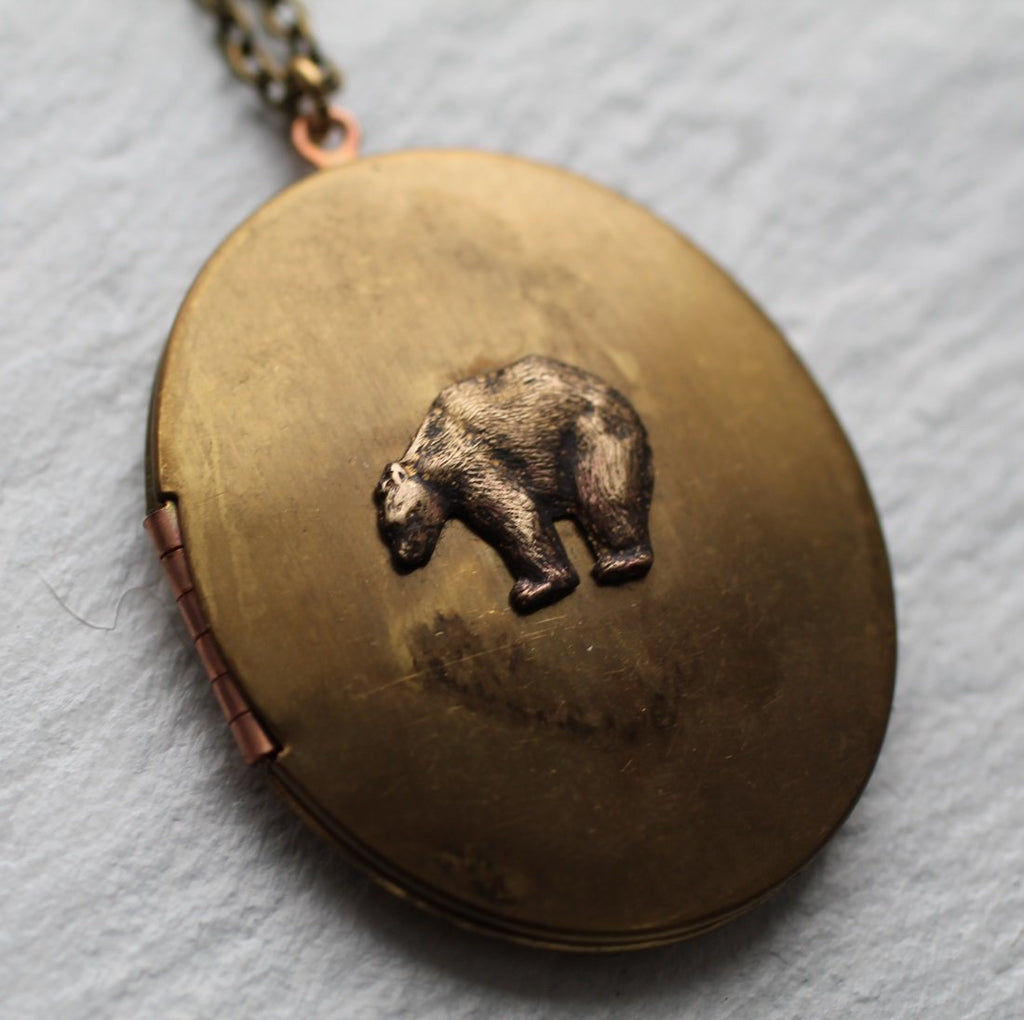 Wild Bear Locket - Necklaces