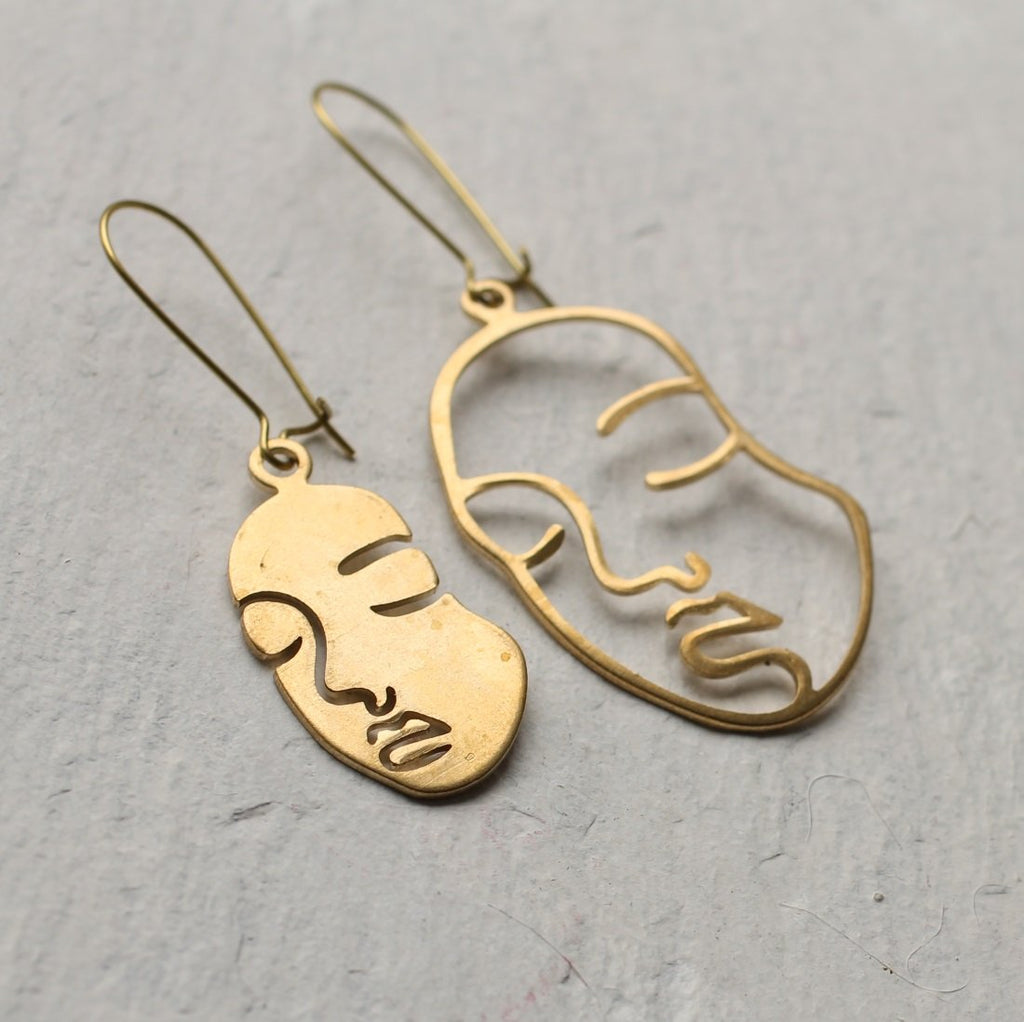Face Earrings - Earrings