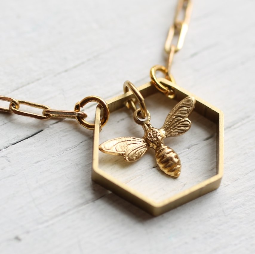 A Bee Hive Necklace