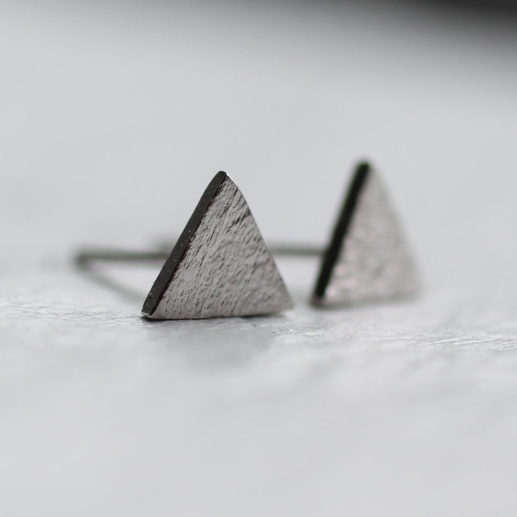 Silver Mountain Stud Earrings - Earrings