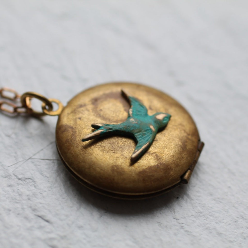 Bird Locket - Necklaces