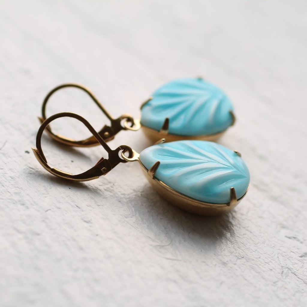 Seafoam Turquoise Earrings - Earrings