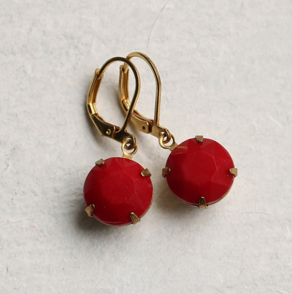 Red Lipstick Earrings - Earrings