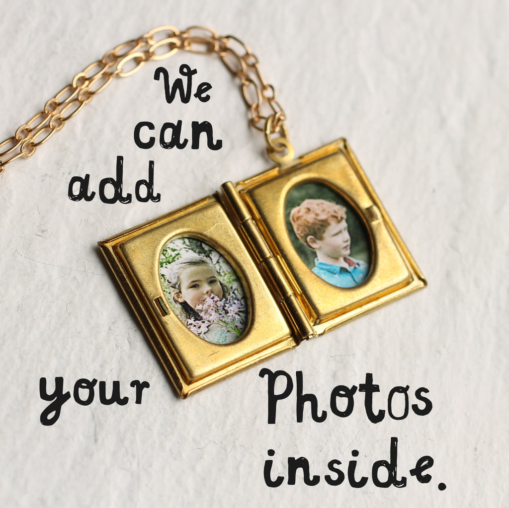Victorian Book Locket - Necklaces