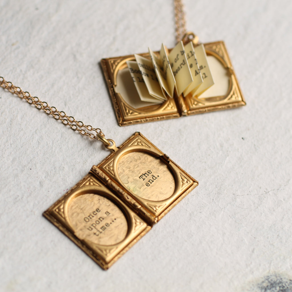 Story Book Locket - Necklaces