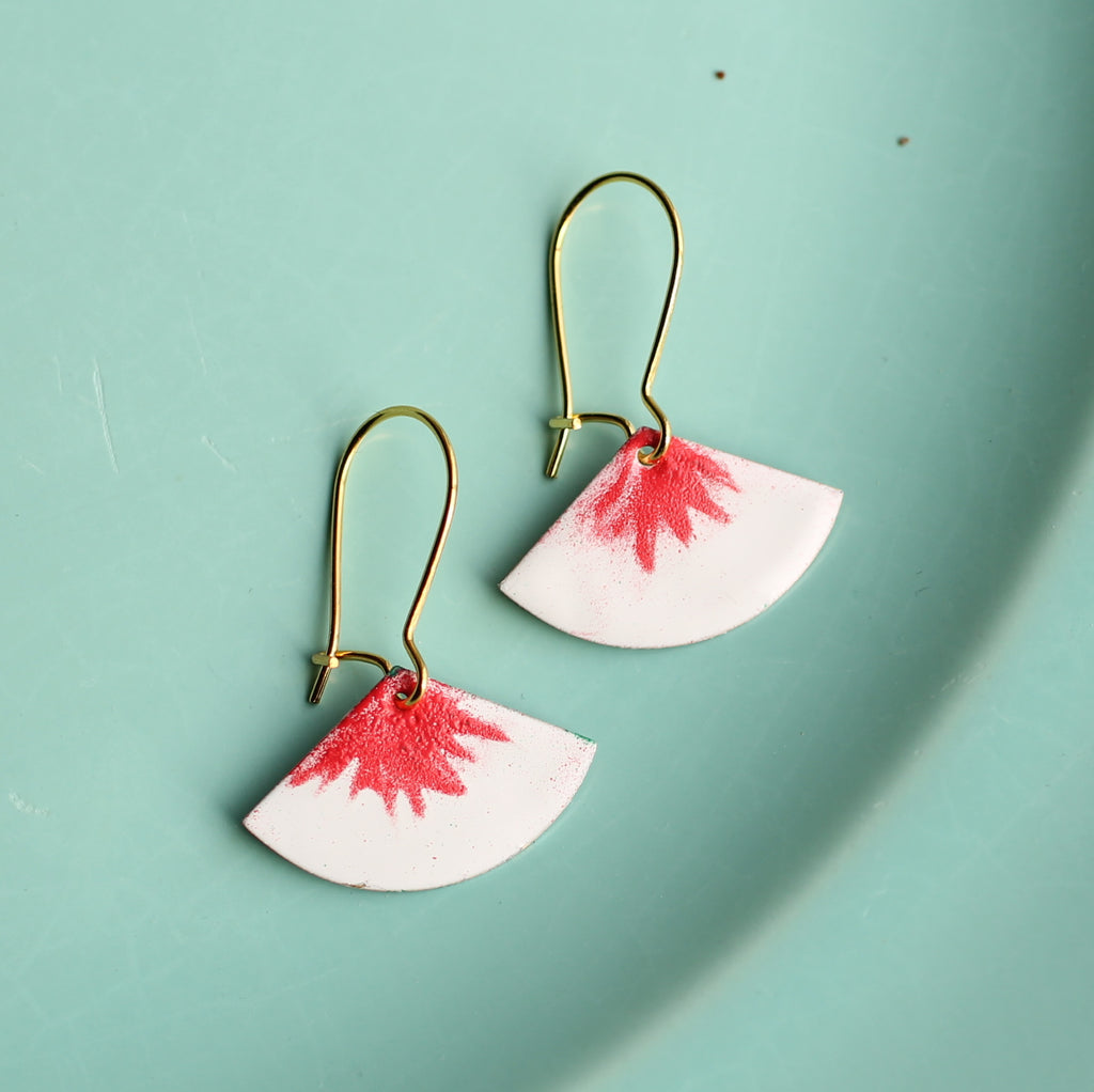 Red Crayon Earrings - Earrings