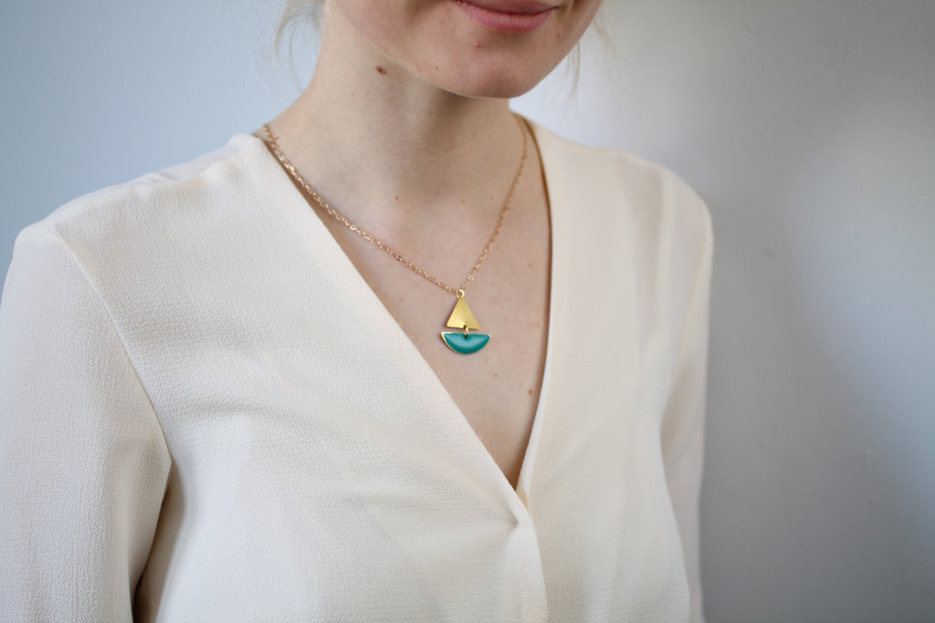 Yellow Sailing Boat Necklace - Necklaces