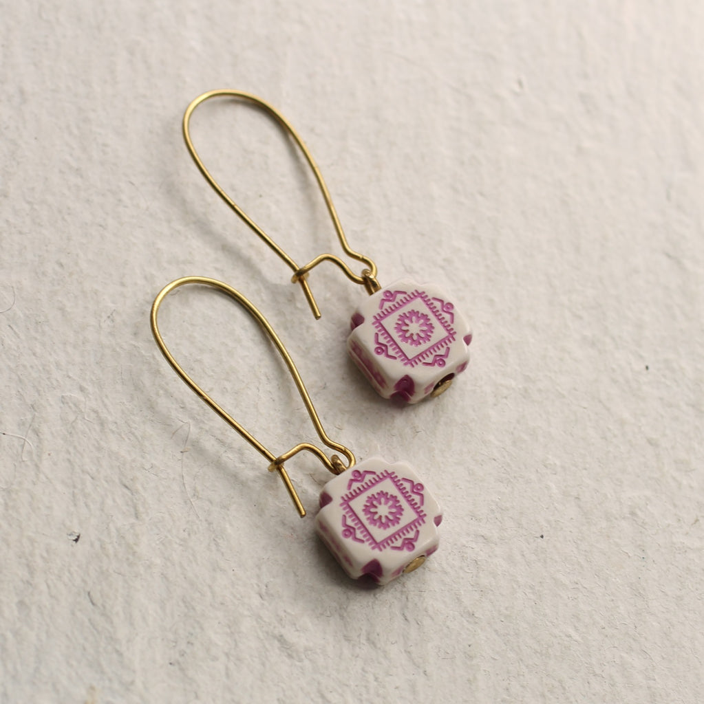 Lilac Folk Earrings - Earrings