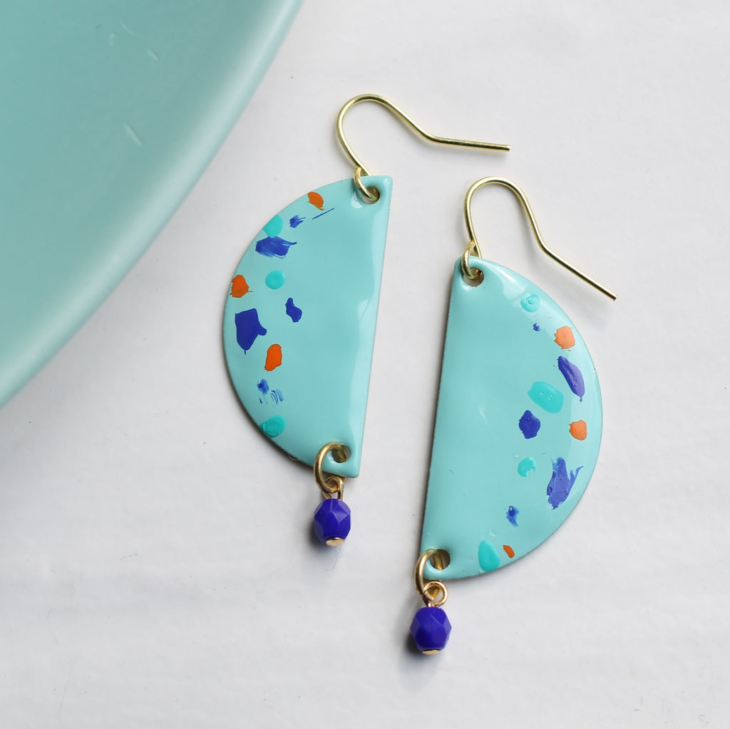 Pop Art Earrings Turquoise - Earrings