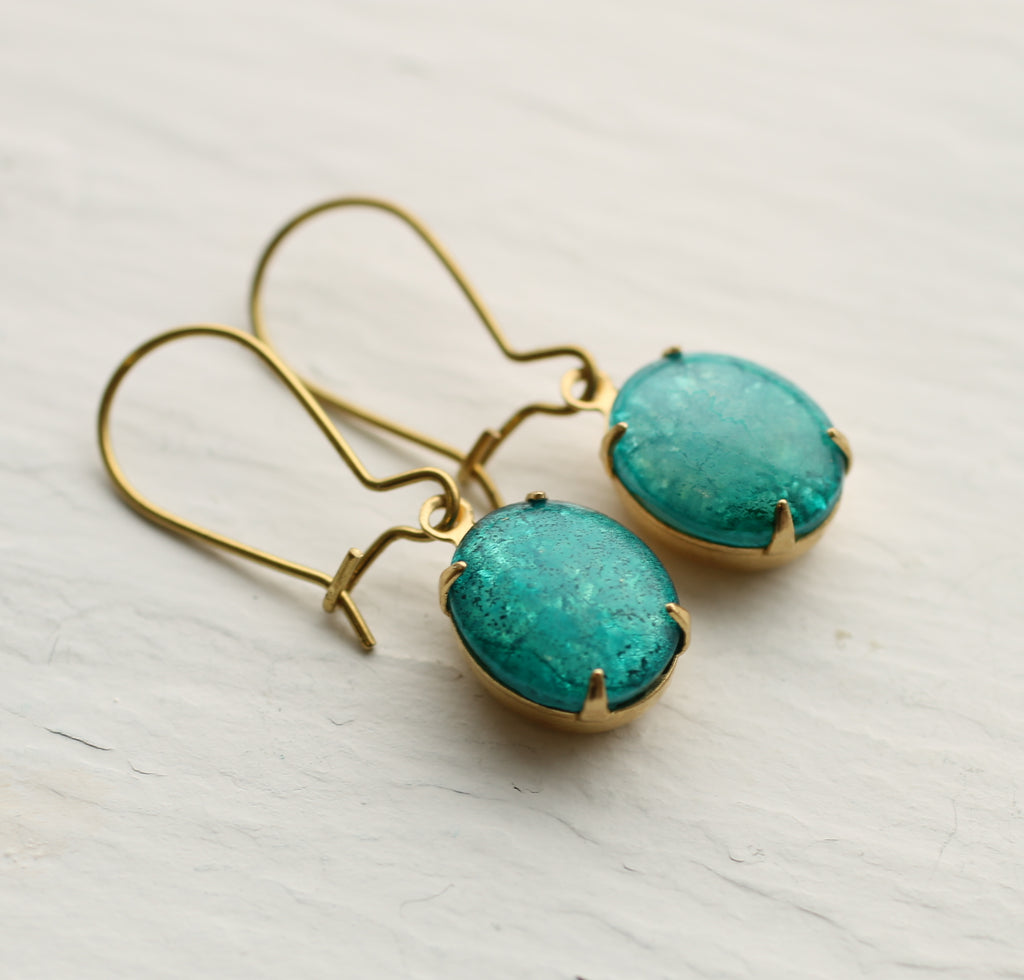 Turquoise Opal Jewel Earrings - Earrings