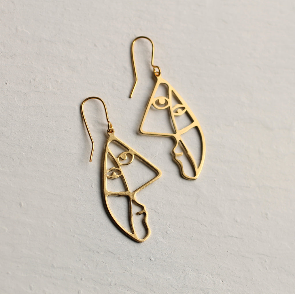 Picasso Face Earrings - Earrings