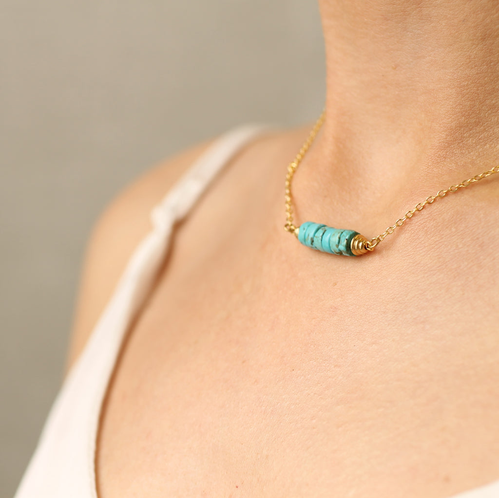 Turquoise Choker Necklace - Necklaces